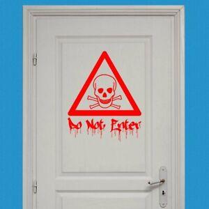 Cross Bones Do Not Enter Door Wall Sticker Decal Transfer Kids Matt Vinyl UK