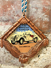 German Car Badge 1936 BMW 328 Metal Enamel Medal 1.IVV Wandertage Glashutten  A1