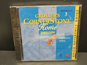 Grolier's Cornerstone Home English 3, Grades 3-4,  PC, CD-ROM, W 95 / 3.1, 1998