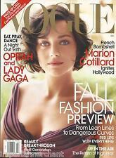 Vogue magazine Marion Cotillard Oprah Lady Gaga Sunscreens Fall fashion Hair