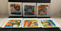 6 Crate Barrel Road Trip City Scenes Square Party Plates Tapas Dessert Appetizer