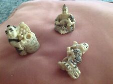 Lot of 3 Netsuke figurines.all beautiful!