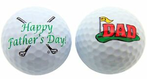 1 Dozen Happy Fathers Day Dad Double Sided Logo Mint Callaway Mix Golf Balls