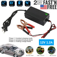 Portable 12V Auto Car Battery Charger For Trickle Maintainer Boat Motorcycle ATV
