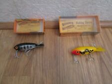 2 Vintage Bomber Fishing Lures By Bomber Bait Co-With Boxes