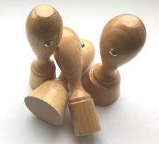 Set Holzstempel 10mm Rund Rohling ohne Platte auf Wunsch mit Kissen Colop M1 NEU