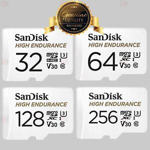 Sandisk 32GB 64GB 128GB 256GB V30 U3 High Endurance MicroSD Memory Card Class 10