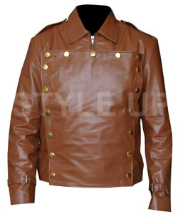 The Rocketeer Cliff Casual Wear Stylich Bomber Brown Faux Leather Jacket