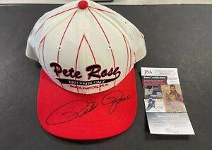 HAND SIGNED SNAPBACK HAT/CAP PETE ROSE W/JSA COA VINTAGE NEW ERA (AM) 91721