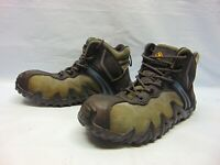 Terra Venom Mid Mens Size 9.5 Black Leather and Suede Composite Safety Toe Work