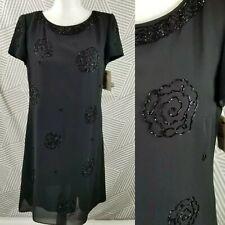 NEW $159 Liz Claiborne Night Cocktail Dress Beaded Evening Sz 4 Retail Floral
