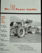 Ih Farmall H M 200 300 31 Power Front End Loader Brochure With Grader Manure Scoop
