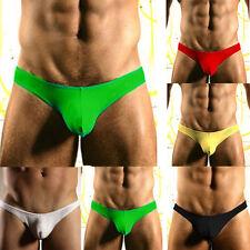 NE_ Sexy Mens Underwear Thong Briefs Bulge Pouch G-String Shorts Underpants No