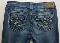 Silver Jeans Suki Surplus Womens Blue Denim Size 29 x 30 Boot Cut Medium Wash
