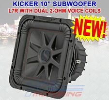 KICKER 45L7R102 1000 WATT DUAL 2 Ohm VOICE COIL 10 INCH SQUARE L7R SUBWOOFER NEW