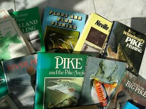 Pike and lure fishing books collection of over 20