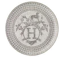 "Hermes Mosaique au 24 platinum Tart platter, platinum, 12.6"""