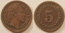 Jeton Allemagne, Ludwig II Koenig V Bayern, 5 Mark (vers 1870) !!