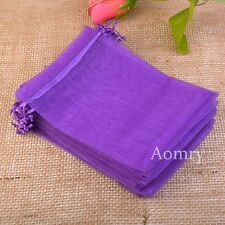 50 pcs Organza Bags Luxury Quality Wedding Jewellery Gift Favour Pouch 7x9 9x12