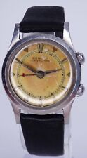 Vintage Benrus Wrist Alarm Stainless Steel Watch Beautifully Aged