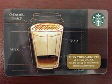 HTF Starbucks Caramel Machiatto Gift Card Never Swiped NO $ VALUE