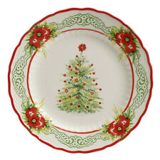 SET OF 2 PLATES  Pioneer Woman Christmas Garland Holiday TREE SALAD BRAND NEW
