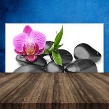 Crédence de cuisine en verre Panneau 120x60 Art Pierres Fleurs