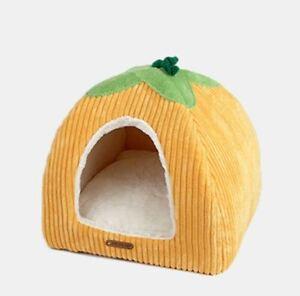 New pumpkin Shape Pet Dog Cat House Tent Beds Kennel Indoor Raised Tent Size S,M