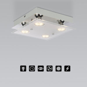 Square 4 Way Pendant Ceiling Light Fitting Wall Lamp Indoor Lighting Accessories