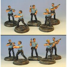 Armorcast 28mm Pewter TAC005 Rookie Cop Set - New Modern Mobocracy Minis