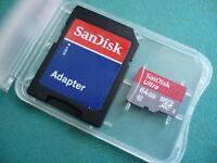 SanDisk 64GB ultra 10 mcirosdhc Memory Card for GoPRO HERO3 HERO3+ hero 3 bulk
