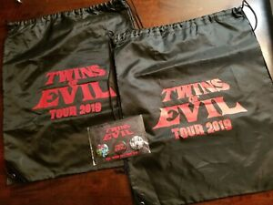 Marilyn Manson Swag Bag Tote Bags And Pins Twins of Evil Tour 2019 rob zombie