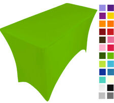 LIGHT GREEN spandex lycra stretch cover tablecloth for 4ft foot table 120X75X75