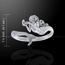 Mermaid Sapphire Cuff Bangle Sterling Silver Bracelet Peter Stone Fine Jewelry