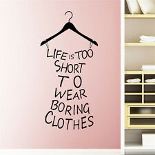 Girl Bedroom DIY Removable Quote Wall Sticker Art Vinyl Decal Home Room Decor