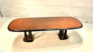Mid Century Asian Modern Burled Profiles Dining Table by Drexel Heritage MONT