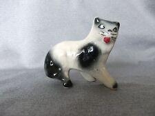 Antique 19thC Folk Art Painted Primitive Pottery, Cat