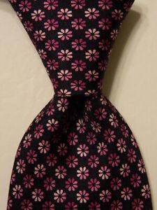 GIANNI VERSACE Men's 100% Silk Necktie ITALY Luxury FLORAL Blue/Purple/Pink NWT