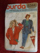 Burda 6344 Ladies Jacket  Sizes 8 to 20+  CUT