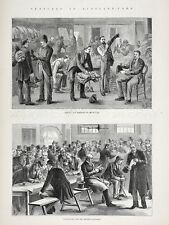 Metropolitan Police Service Scotland Yard MPS London England 1880s Antique Print