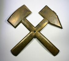 STRIKING Old yr. 1955 Mining Symbol Hanger 160x4mm Katowice Poland Upper Silesia