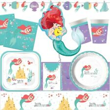 Disney Little Mermaid Themed Party Range (Tableware Decorations Balloons Packs)
