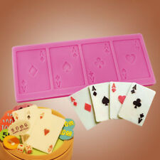 Creative Silicone Poker Fashion DIY Chocolate Mold Cake Fondant Decorating Tools