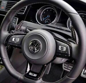 VW Carbon Black Paddle Shift Extensions DSG MK7 MK7.5 GTI Golf R GTD