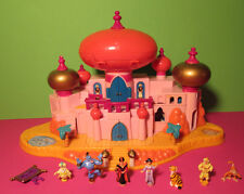 Polly pocket mini disney ♥ Aladdin Palais ♥ Jasmine's Royal Palace ♥ 7 personnages ♥