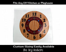 DIY Decal Sticker fits Generic Step 2 Kitchen PLayhouse Clock no hands Face Wood