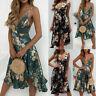 Womens Floral Boho Long Maxi Dress Summer Beach Evening Party Cocktail Sundress