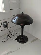 Vintage 1940s Flying Saucer Mid Century Modern UFO Atomic Mushroom Desk Lamp