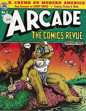 R. CRUMB LENNY BRUCE GILBERT SHELTON ARCADE: THE COMICS REVUE #2 SUMMER 1975