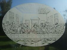 LAST SUPPER  Vinyl Window Decoration / Static Cling / Decal / Window Sticker 10x